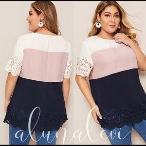 Plus size multi color stripped top